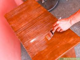 How To Stain Mohagany Doors Youtube by How To Varnish Wood With Pictures Wikihow