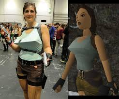 Cosplay Meme - lara croft cosplay meme guy