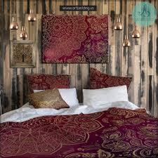 boho mandala bedding mehendi mandala duvet bedding set vintage