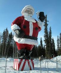 santa claus house north pole ak big santa iconic north pole landmark to be relocated as part of