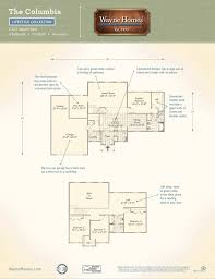 floor plans for two story homes columbia wayne homes