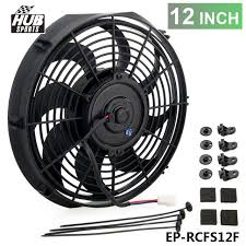 electric radiator fans new 12 inch electric universal radiator fan curved s blade