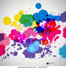 holi background color paint splashes abstract stock vector