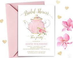 bridal shower tea party invitations bridal shower tea etsy