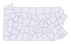 map of counties in pa file pennsylvania state map county outlines png