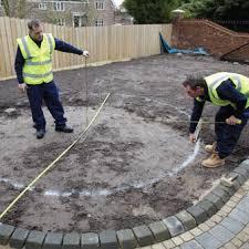 Circular Patio Kit by Laying A Patio Circle Bradstone