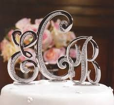 cake topper monogram wedding cake monogram toppers the wedding specialiststhe wedding