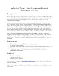 Sample Resume Objectives Law Enforcement by Ccjs Undergrad Blog Arlington County Police Department Fall