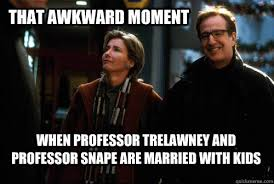 Snape Meme - that awkward moment when professor trelawney and professor snape