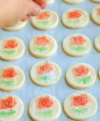 rose shortbread cookies sundaysupper baking sense