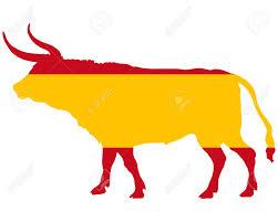 Bulls Flag Spanish Bull Royalty Free Cliparts Vectors And Stock