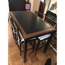crate u0026 barrel parsons high dining table aptdeco