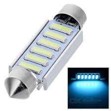 blue free light bulbs double festoon 41mm 2w 6 7020 smd led ice blue light bulb dc 12v