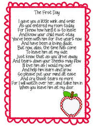 welcome to kindergarten poem for parents by the classroom contessa