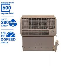 600 sq feet hessaire 2 800 cfm 2 speed window evaporative cooler for 600 sq