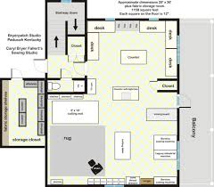 Storage Room Floor Plan Tour Of Caryl Bryer Fallert U0027s Private Sewing And Design Studio