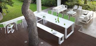 white outdoor table and chairs luxury patio furniture at home and interior design ideas