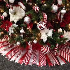 ribbon tree skirt cut paper pattern attach cut ribbon