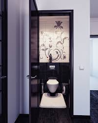 small bathroom interior with rectangle white ceramic floating sink