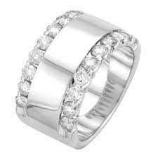 wide wedding bands all womens diamond wedding rings steven singer jewelers within