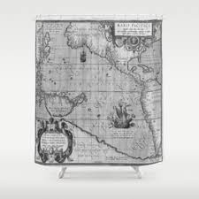 Shower Curtain Map Geography Shower Curtains Society6
