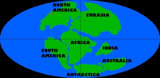 continental drift 136 million