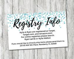 baby shower registries baby registry cards registry inserts baby shower gift