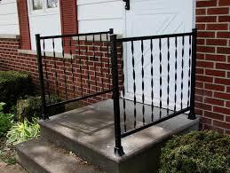 front porch metal railings home design ideas