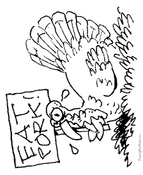 funny turkey thanksgiving coloring pages 016