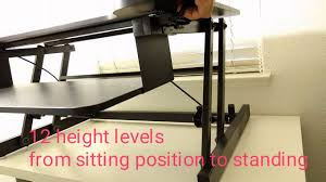 Stand Or Sit Desk by Beegod Sit Stand Workstation Desk Riser With Wide Platform And