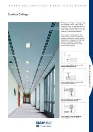 planostile ceiling systems corridor solutions dampa pdf
