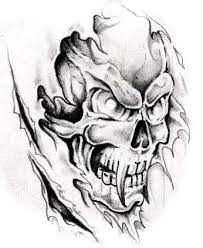 army skulls fire tattoo design on arm in 2017 real photo