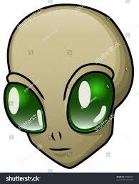 cartoon alien head halloween mask eps stock vector 53950357