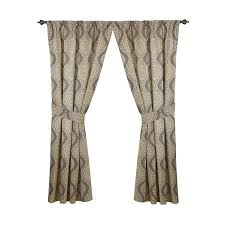 Waverly Curtain Panels Shop Waverly Moonlight Medallion 84 In Mineral Cotton Back Tab