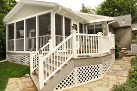 screened patio ideas exterior contemporary with deck flat roof