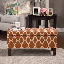 burnt orange coffee table ottoman leather tufted ottoman with tray blue brown burnt orange
