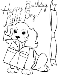 Happy Birthday Little Boy Coloring Pages Best Place To Color Boy Color Pages