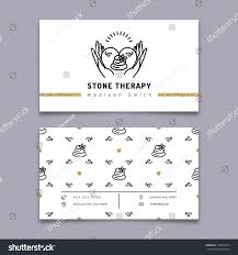 Beauty Spa Business Cards Vector Stone Therapy Business Card Template Stock Vector 529784974