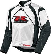 gsxr riding jacket icon contra gsxr mens textile jacket white