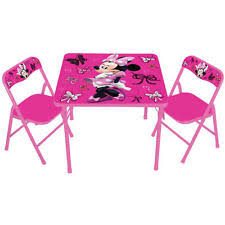 minnie mouse card table kids folding table ebay