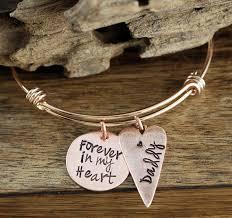 memorial bracelets for loved ones forever in my heart bangle bracelet personalized memorial