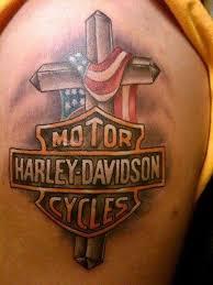 cross tattoos on bicep 25 harley davidson bike tattoos