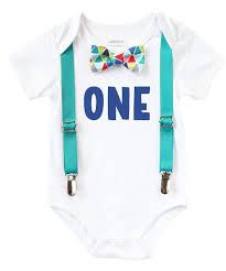 birthday onesie boy birthday boy teal and rainbow colorful bow tie blue