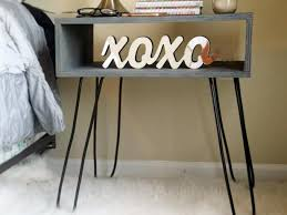 How To Make A Floating Nightstand How To Build A Hairpin Leg Nightstand How Tos Diy