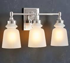 Sconce Bathroom Lighting Benchwright Triple Sconce Pottery Barn