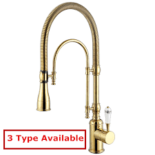 brass kitchen faucet shop solid brass kitchen faucet with golden finish swivel