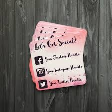 custom social media cards this is the new business card
