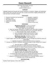 warehouse job resume sample u2013 topshoppingnetwork com