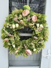 Tulip Wreath Pale Pink Ranunculus U0026 Cream Tulips Wreath Wreaths By Julie