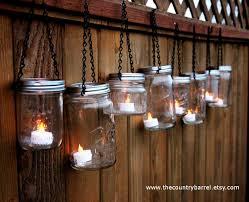 Battery Operated Hanging Lights Mason Jar Lanterns Hanging Tea Light By Thecountrybarrel On Etsy
